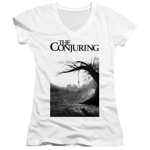 Image for The Conjuring Girls V Neck - Monotone Poster