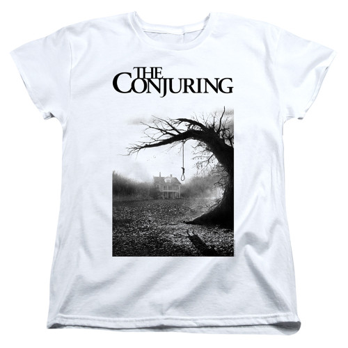 Image for The Conjuring Womans T-Shirt - Monotone Poster