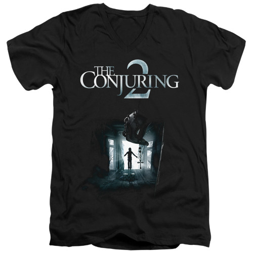 Image for The Conjuring V Neck T-Shirt - Conjuring 2 Poster