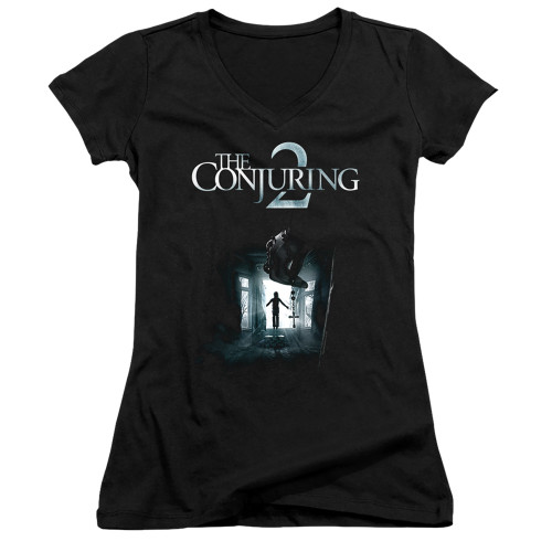 Image for The Conjuring Girls V Neck - Conjuring 2 Poster
