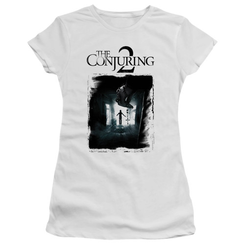 Image for The Conjuring Girls T-Shirt - Conjuring 2 Montone Poster
