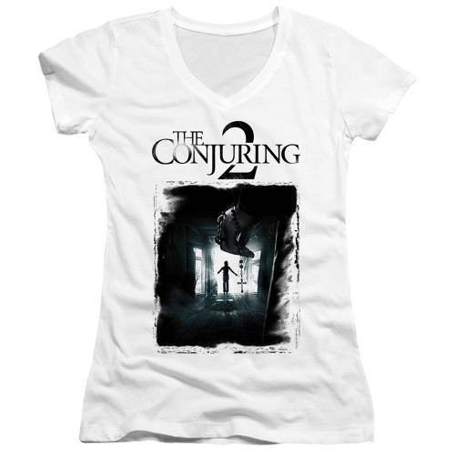 Image for The Conjuring Girls V Neck - Conjuring 2 Montone Poster