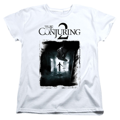 Image for The Conjuring Womans T-Shirt - Conjuring 2 Montone Poster