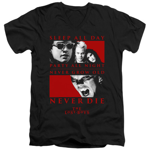 Image for The Lost Boys V Neck T-Shirt - Never Die