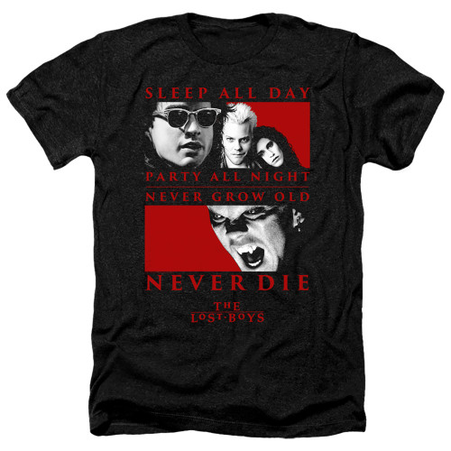 Image for The Lost Boys Heather T-Shirt - Never Die