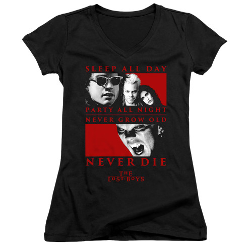 Image for The Lost Boys Girls V Neck - Never Die