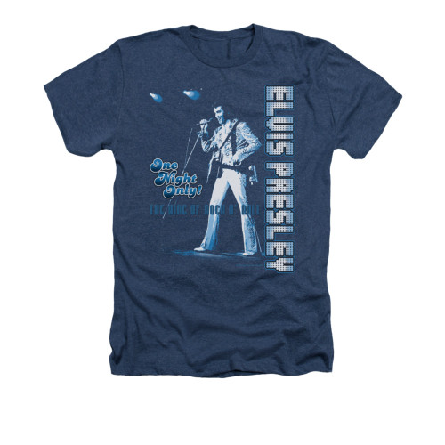 Image for Elvis Heather T-Shirt - One Night Only