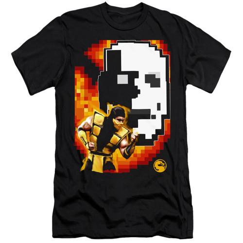 Image for Mortal Kombat Klassic Premium Canvas Premium Shirt - Scorpion