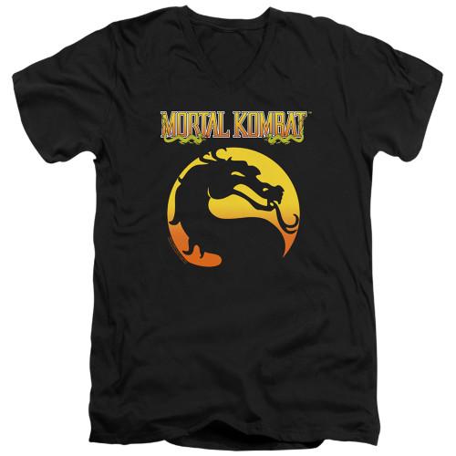 Image for Mortal Kombat Klassic V Neck T-Shirt - Logo
