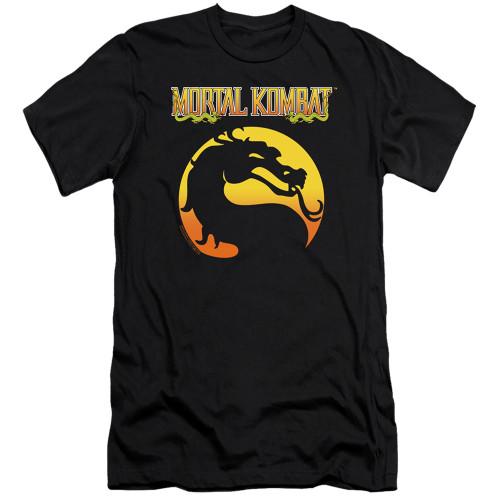 Image for Mortal Kombat Klassic Premium Canvas Premium Shirt - Logo