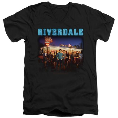 Image for Riverdale V Neck T-Shirt - Up at Pops