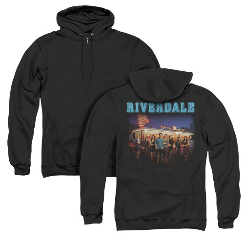 Image for Riverdale Zip Up Back Print Hoodie - Up at Pops