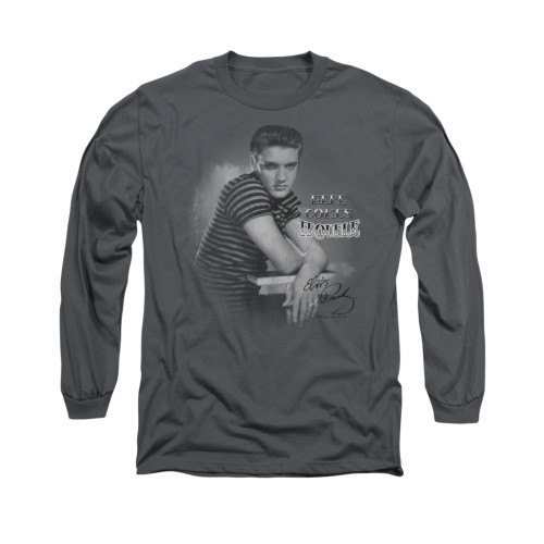 Image for Elvis Long Sleeve T-Shirt - Trouble