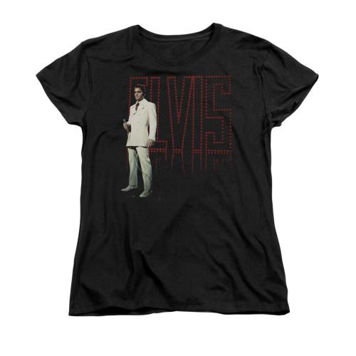 Image for Elvis Woman's T-Shirt - White Suit