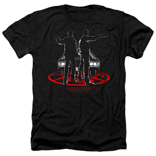 Image for Supernatural Heather T-Shirt - Silhouettes