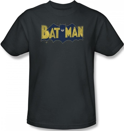 Image Closeup for Batman T-Shirt - Vintage Batman Logo Splatter