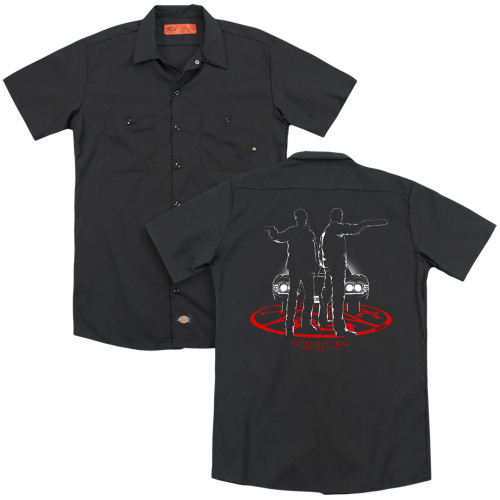 Image for Supernatural Dickies Work Shirt - Silhouettes