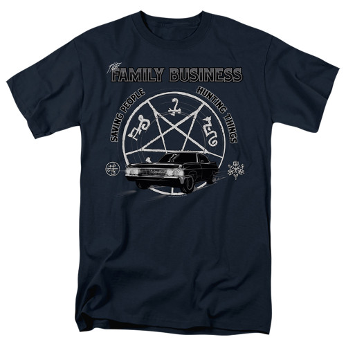 Image for Supernatural T-Shirt - Saving People and Hunting