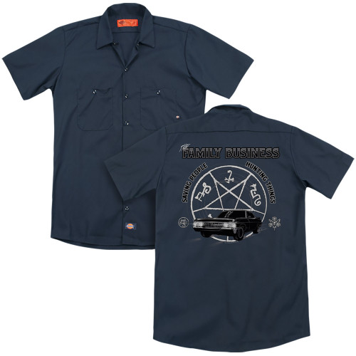 Image for Supernatural Dickies Work Shirt - Saving People and Hunting