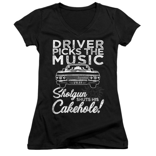 Image for Supernatural Girls V Neck - Driver Picks Music