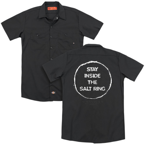 Image for Supernatural Dickies Work Shirt - Stay Inside the Salt Ring