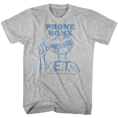 Image for ET the Extraterrestrial T-Shirt - 1 Color Distressed
