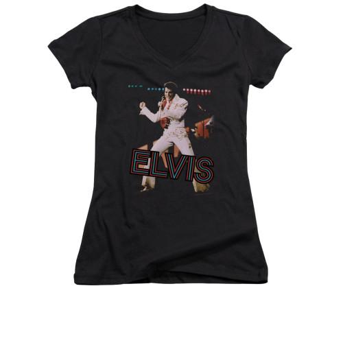 Image for Elvis Girls V Neck T-Shirt - Hit the Lights