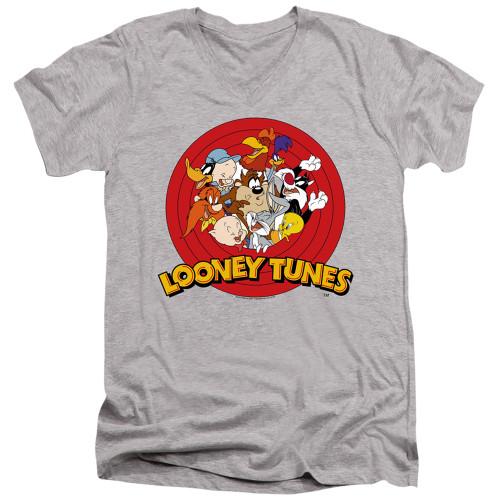 Image for Looney Tunes T-Shirt - V Neck - Group Logo
