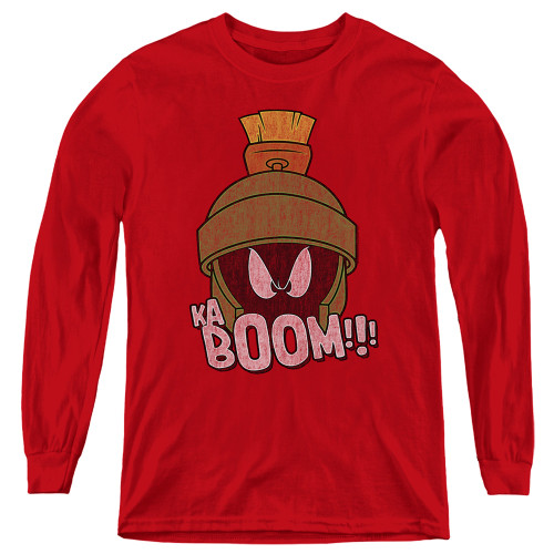 Image for Looney Tunes Youth Long Sleeve T-Shirt - Marvin the Martain Ka-Boom