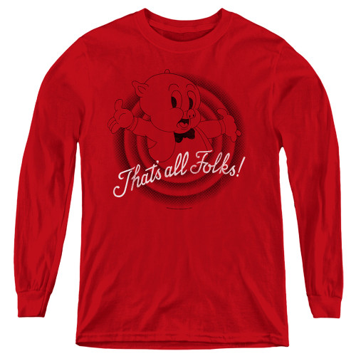 Image for Looney Tunes Youth Long Sleeve T-Shirt - That's All Folks