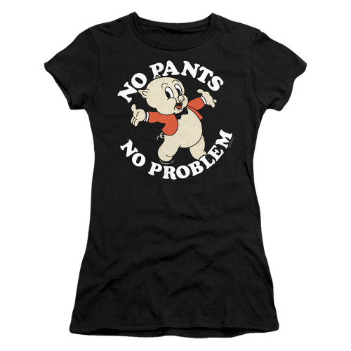 Image for Looney Tunes Girls T-Shirt - Porky Pig No Pants No Problem
