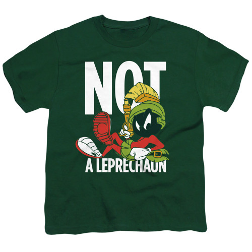 Image for Looney Tunes Youth T-Shirt - Marvin the Martian Not a Leprechaun