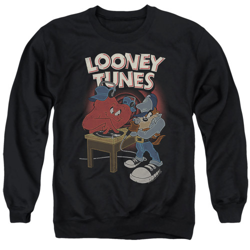 Image for Looney Tunes Crewneck - Tasmanian Devil DJ Looney