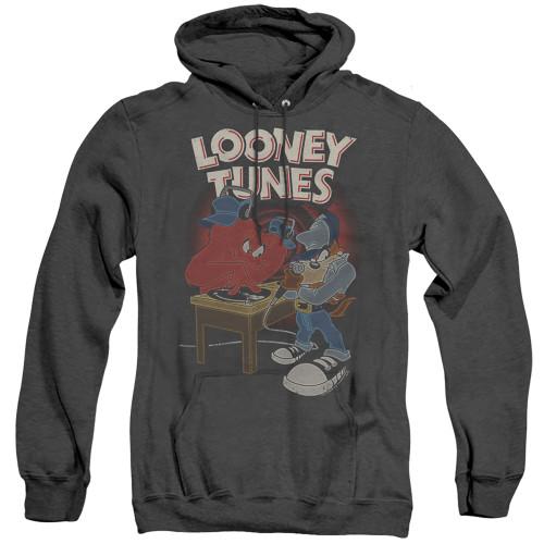 Image for Looney Tunes Heather Hoodie - Tasmanian Devil DJ Looney