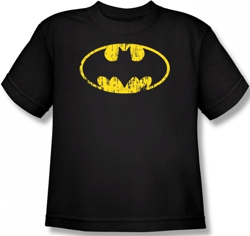 Image for Batman Youth T-Shirt - Classic Logo Distressed