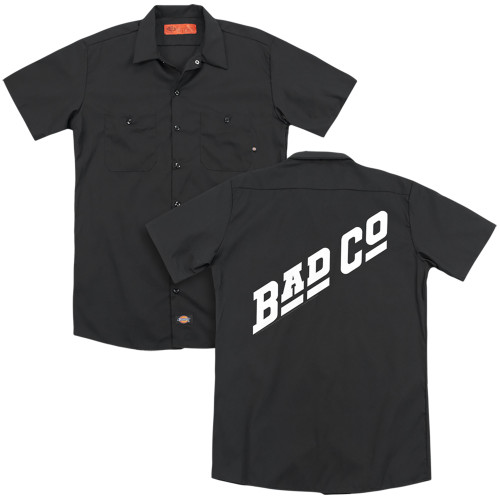 Image for Bad Company Dickies Work Shirt - Winged Bad Co Logo