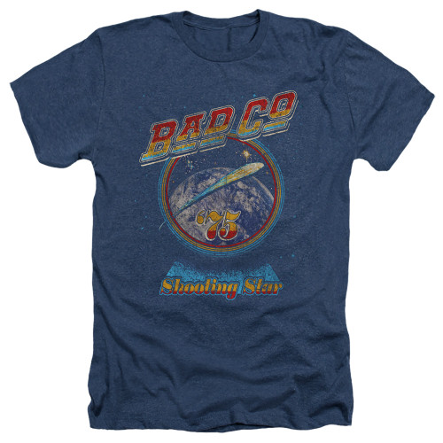 Image for Bad Company Heather T-Shirt - Winged Shooting Star