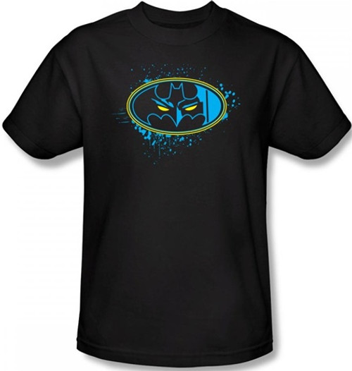 Image Closeup for Batman T-Shirt - Eyes in the Darkness Logo