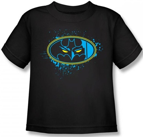 Image for Batman Eyes in the Darkness Logo Toddler T-Shirt