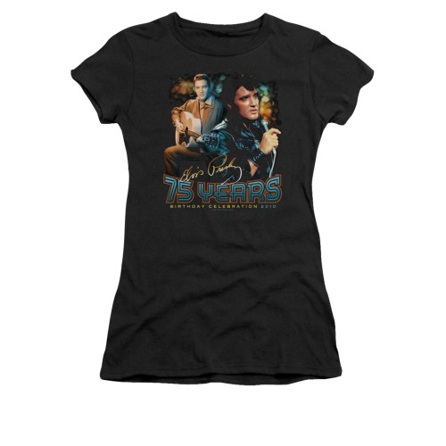 Image for Elvis Girls T-Shirt - 75 Years