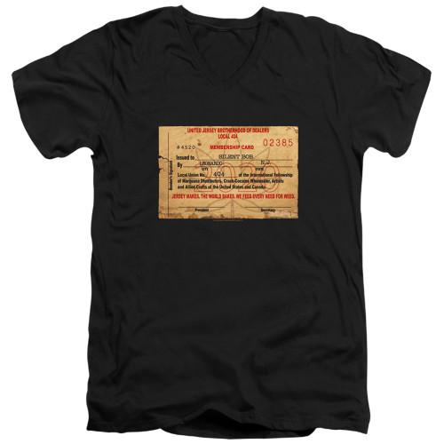 Image for Jay & Silent Bob Reboot V Neck T-Shirt - Dealer Card