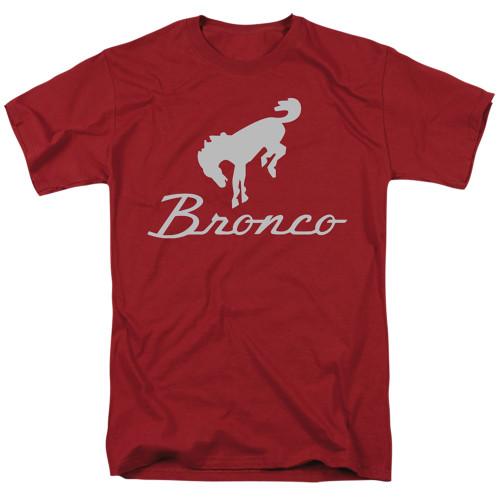 Image for Ford T-Shirt - Chrome Ford Bronco Logo