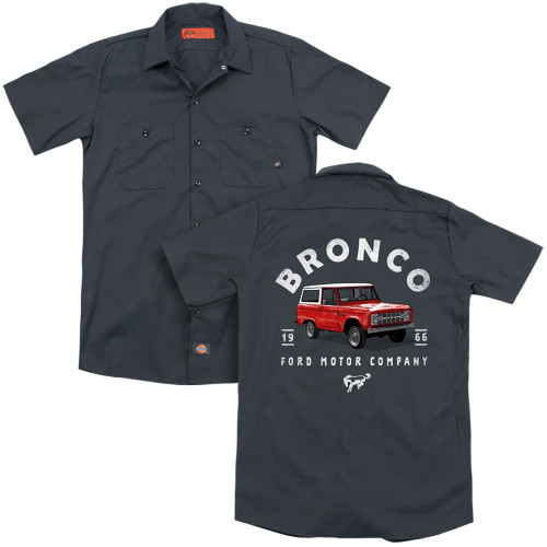 Image for Ford Dickies Work Shirt - Bronco Illustrated