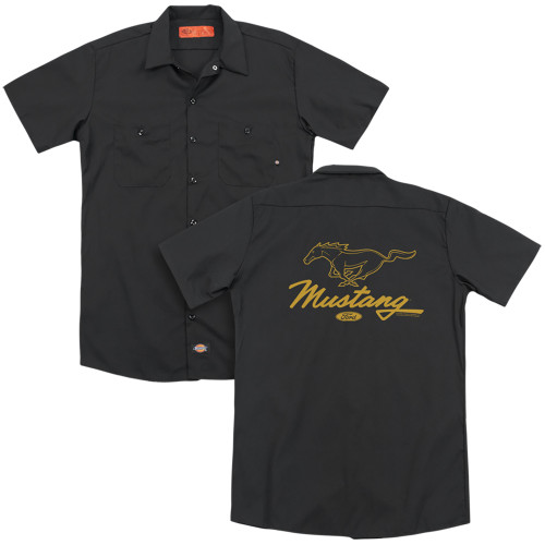 Image for Ford Dickies Work Shirt - Mustang Pony Script