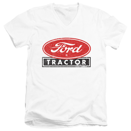 Image for Ford V Neck T-Shirt - Ford Tractor