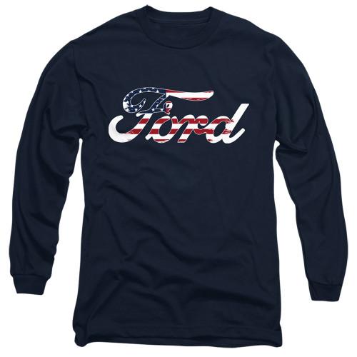 Image for Ford Long Sleeve Shirt - Flag Logo