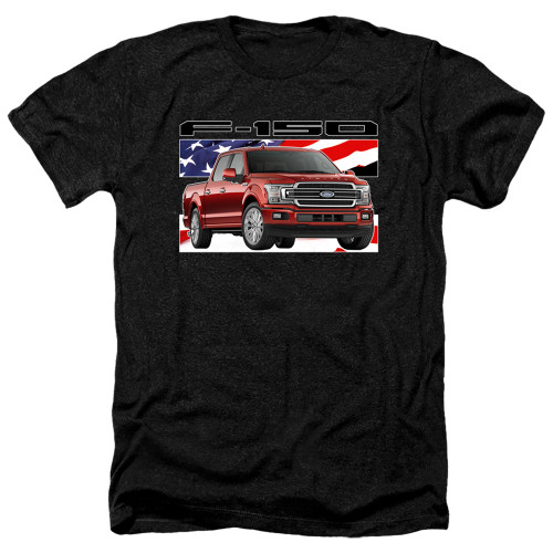 Image for Ford Heather T-Shirt - F150 Flag