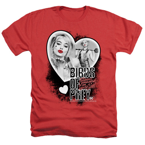 Image for Birds of Prey Heather T-Shirt - Heart Harley