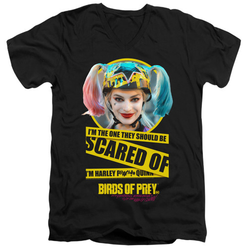 Image for Birds of Prey V Neck T-Shirt - I'm the One You Should Be Scared Of