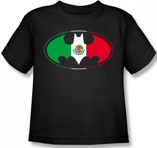 Image for Batman Kids T-Shirt - Mexican Flag Logo